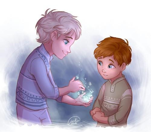 Frozen wallpaper called Genderbent!Young Elsa and Anna