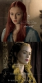 Sansa Stark & Cersei Lannister - game-of-thrones fan art