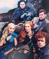Daenerys, Jon, Tyrion, Cersei & Jaime