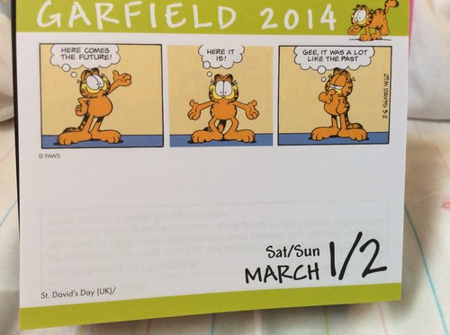garfield wallpaper probably containing a newspaper and animê entitled My garfield calendar.