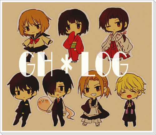 Ghost Hunt wallpaper probably with Anime called chibi Ghos Hunt