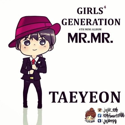 Girl's Generation/SNSD karatasi la kupamba ukuta with anime called Taeyeon ~ Mr.Mr Chibi