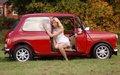 Classic Mini Girl - girls-n-cars photo