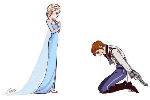 hans and elsa fond dcran titled la reine des neiges elsa and hans