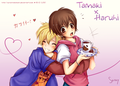 Tamaki & Haruhi~ - haruhi-and-tamaki fan art