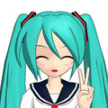 Miku in 3D - hatsune-miku photo