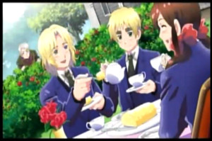 Gakuen hetalia - axis powers screenshot chá Party