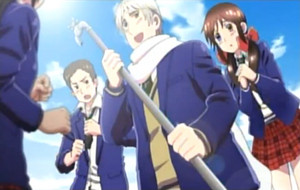 Gakuen hetalia - axis powers screenshot
