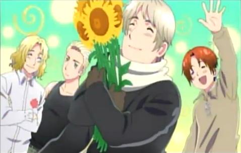 Gakuen हेतालिया screenshot sunflower