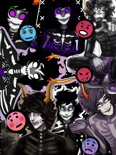 Homestuck achtergrond with anime titled Collage of Kurloz