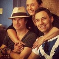 Ian, Nina's mom and Alex (Nina's brother) - ian-somerhalder-and-nina-dobrev photo