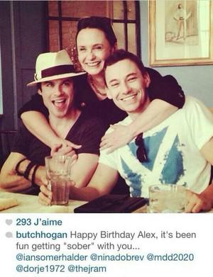 Ian, Nina's mom and Alex