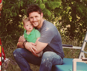 Jensen With a Kid