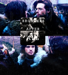 Jon Snow and Robb Stark wallpaper possibly containing a concerto titled Jon and Robb