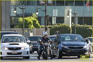 Josh Hutcherson and Claudia Traisac around town (February 23) in Los Angeles