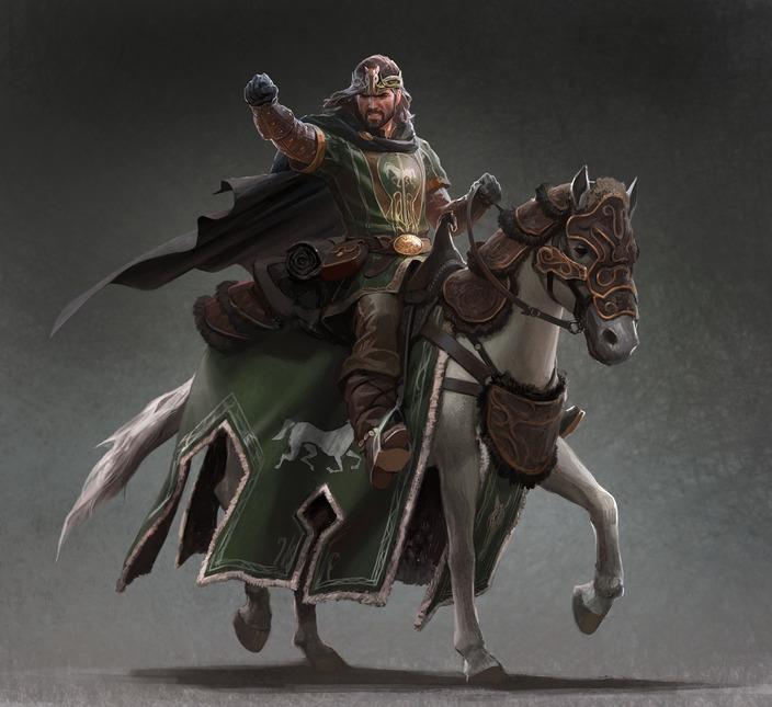 Eorl on horse