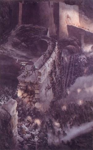 The Battle at Helm's Deep 由 Alan Lee