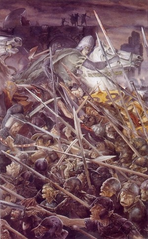 The siege of Gondor by Alan Lee