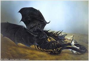 Eowyn and the Nazgul by John Howe