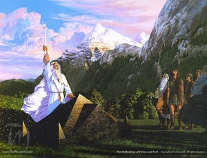 The Oathtaking of Cirion and Eorl por Ted Nasmith