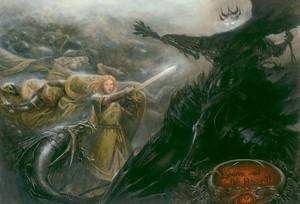 Eowyn and the Nazgul by Matthew Stewart