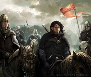 "Aragorn and the Rohirrim. ""Nor Am I A Stranger"" door Magali Villeneuve"