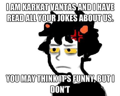 होमस्टक वॉलपेपर probably containing ऐनीमे entitled Karkat Meme 1