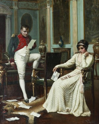 re e regine wallpaper possibly with a drawing room and a strada, via titled Harold H. Piffard (active 1895 - 1899) - Napoleon and Josephine