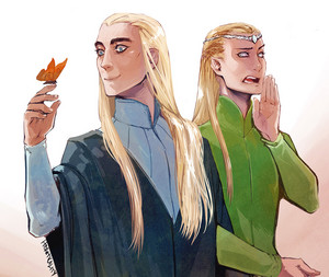 Thranduil and Legolas 粉丝 art
