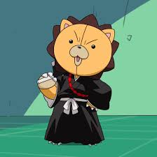 Kon dressed as a soul reaper