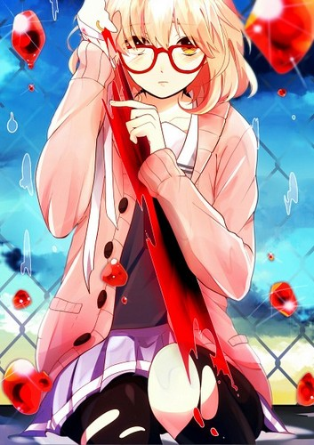 Kyoukai no Kanata wallpaper containing anime called Mirai Kuriyama