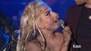 GaGa performing with Millie Brown
