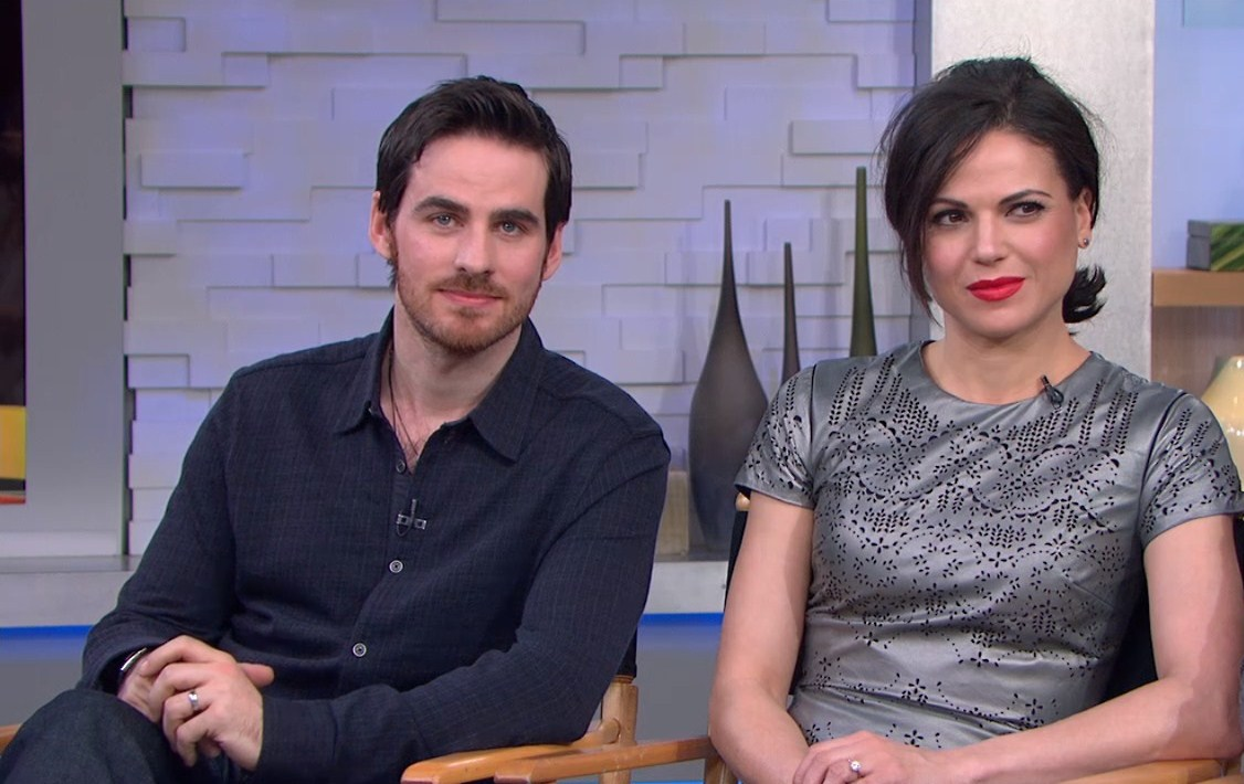 Photo of Colin O'Donoghue & his friend  Lana Parrilla
