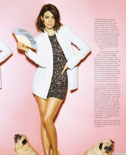 Lauren Cohan achtergrond probably with a leotard, tights, and a maillot called Lauren Cohan Photoshoot 2014