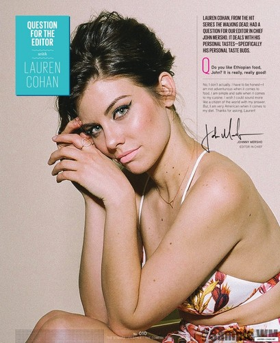 Lauren Cohan achtergrond containing a portrait and skin called Lauren Cohan Photoshoot 2014