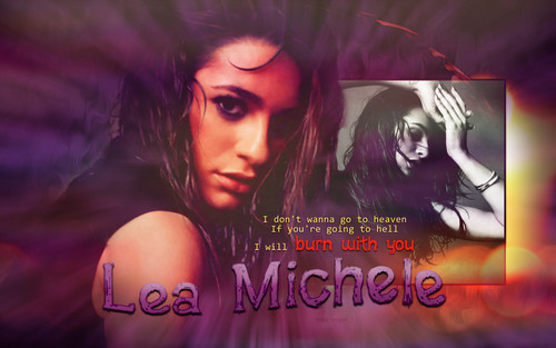 Lea Michele fondo de pantalla possibly containing anime and a portrait titled Lea Michele - Burn with tu