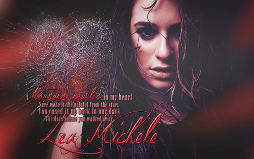 Lea Michele দেওয়ালপত্র probably containing a sign titled Lea Michele - Thousand Needles