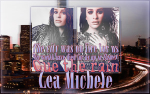 "Lea Michele - ""Cue the rain"""