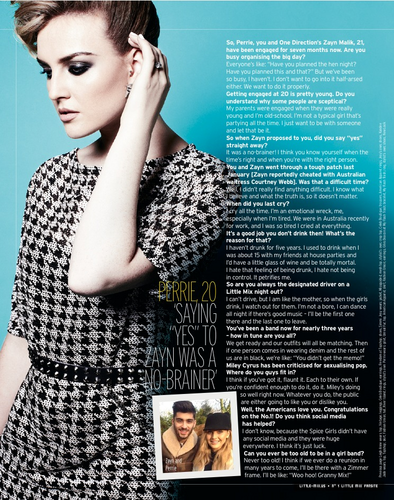Little Mix fond d'écran with a portrait entitled Perrie's Fabulous Magazine Interview