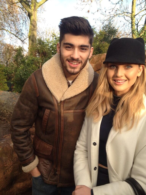 Zayn and Perrie at zoo a few months back :)