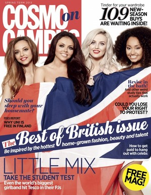 Little Mix on the cover of Cosmo Campus