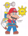 super mario sunshine - mario fan art