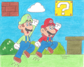 mario and luigi - mario fan art