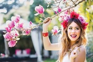 Martina with お花