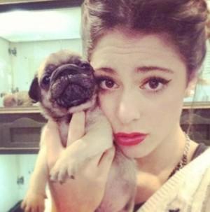 Martina and her dog