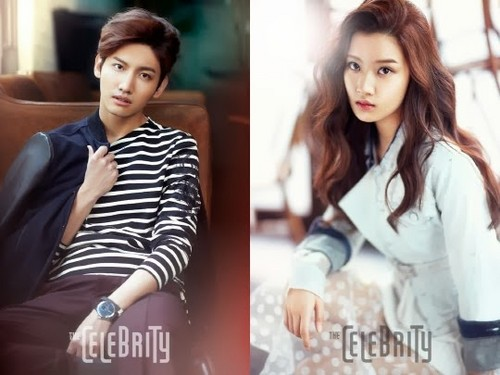 Max Changmin wallpaper with a portrait titled Changmin and Moon Gayoung for 'The Celebrity'