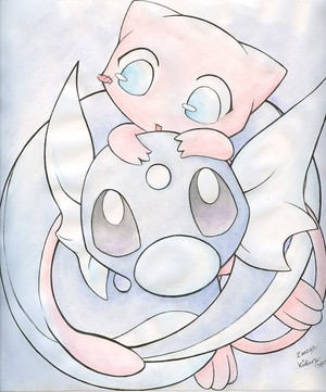 Mew and Dratini