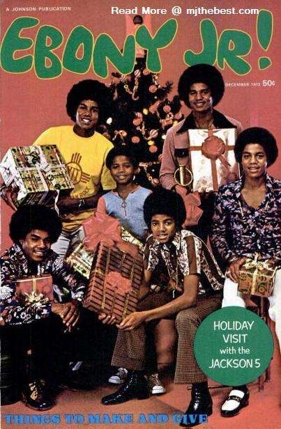 The Jackson 5 On The Cover Of Natale Issue Of EBONY JR! Magazine