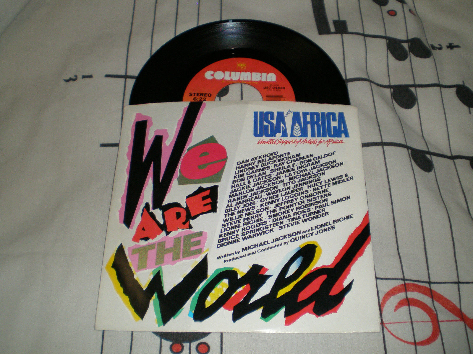 """We Are The World"" On 45 RPM"