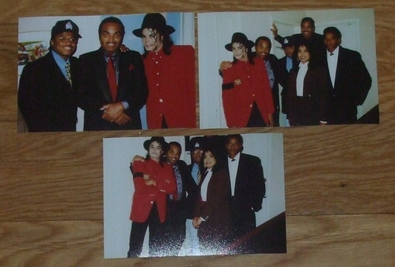 An Assortment Of Photographs Of Michael And His Family